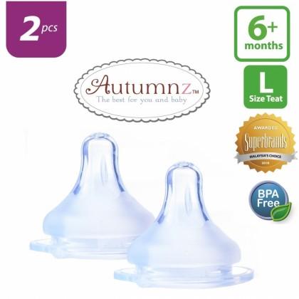 Autumnz Maxy Soft Silicone Teat 2pcs (S / M / L size / X Cut)