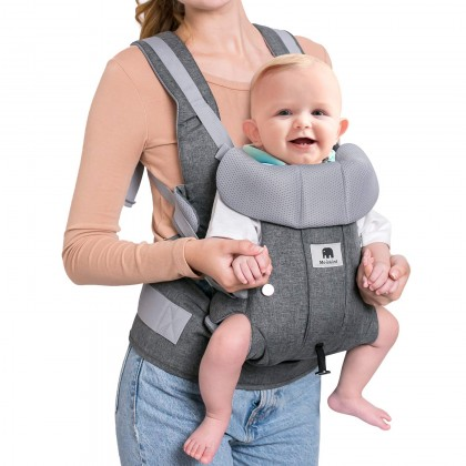 Meinkind 2 in 1 Convertible Ergonomic Baby Carrier (suitable up to 15 kgs) -Grey