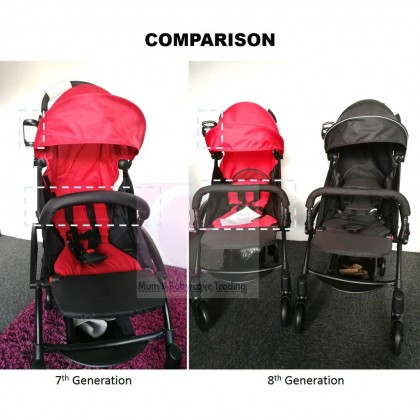 Aldo Compatto Cabin Size Baby Stroller (Newborn - 20kgs) with Carry Bag + FREE GIFT