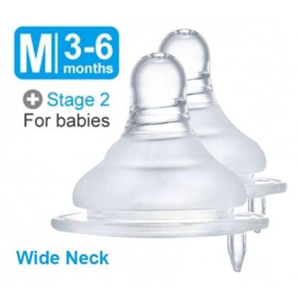 Simba Ultra Soft Wide Neck Cross Hole Nipple 2pcs ( S / M / L / XL )