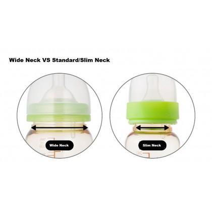 Basilic Standard / Slim Neck Anti Colic Teat- 2pcs (S/ M/ L)